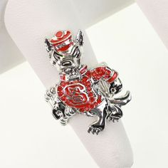 NC State Wolfpack Crystal Stretch Ring