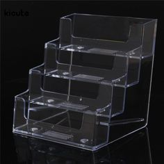 Desk Accessories & Organizer New Fashion Kicute Newest Desktop Business Card Holder 8 Pockets Stand Clear Transparent Acrylic Counter Display Stand Office Home Supplies Quality And Quantity Assured Card Holder & Note Holder