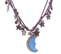 Kirks Folly Moon Shadow Galaxy Cord Necklace