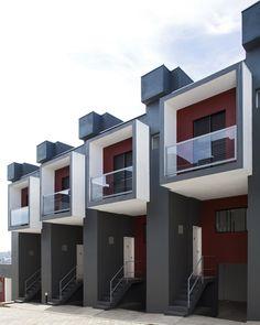 Casas adosadas. Proyecto en Brasil arquitectura de www.yurivital.com