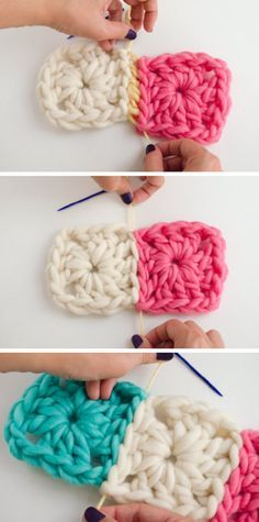 How to join Granny Squares with an invisible seam