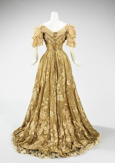Ball gown Designer: Jacques Doucet  Date: 1898–1902 Culture: French Medium: silk, metal, linen Accession Number: 2009.300.3274a, b
