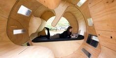 Roll it, module d'espaces circulaire,  Université de Larlsruhe, Allemagne.  clin d'oeil à l'odyssée de l'Espace ;-) https://br.pinterest.com/pin/560698222350198611/