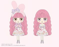 CWC Exclusive Maimero collaboration Neo Blythe My Melody ♥ Blythe – Softly Cuddly You & Me – Available: September 2015 My Melody, Illustration Girl, Blythe Dolls, Sanrio, You And I, Clip Art, Japan, Cartoon, Drawings