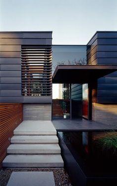 Casa com fachada moderna em concreto aparente #assimeugosto