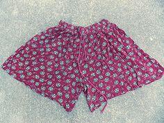 Floral Shorts Size Medium High Waisted Vintage 80s Grunge Slouch BOHO Hippie #SuddenImpact
