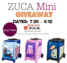 ZUCA Mini Giveaway Ends 8/12
