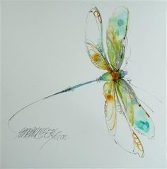 dragon fly watercolour tattoo - Google Search