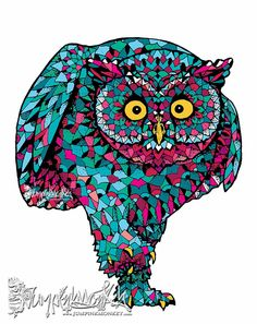 Ink on paper, coloured digitally Trending Memes, Funny Jokes, Captain Hat, Owl, My Arts, Hats, Inspiration, Color, Paper
