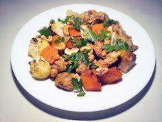 Curried Chicken With Sweet Potato & Cauliflower | www.AfrikozSpices.com.au