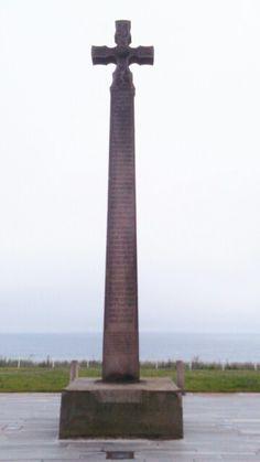 Celtic cross ➕ at Roker beach in Sunderland