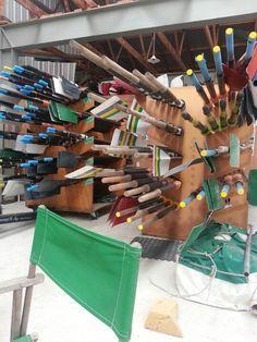 Oar racks in our clubshed