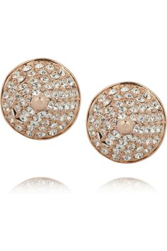 Eddie Borgo | Rose gold-plated crystal cone stud earrings | NET-A-PORTER.COM