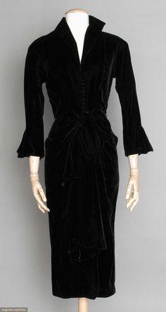 Ceil Chapman Velvet Evening Dress, 1940s, Augusta Auctions, April 9, 2014 - NYC
