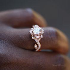 BLOEIENDE kunstwerk Flower Rose Lotus Diamond door BeautifulPetra