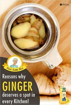 Reasons why Ginger deserves a spot in every Kitchen! Here are a few convincing reasons ginger deserves a spot in every kitchen. Ever wonder why you reach for ginger ale when a stomachache hits? Nope, it doesn't have anything to do with the carbonation. Ginger is extremely effective at fighting nausea, and anyone who's battled seasickness or the flu knows that sipping a ginger soda can ease a queasy stomach. A dose as small as 1.1 to 1. 5 grams has proven to be effective at for helping…