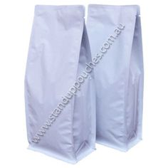 White Paper with Tear Zipper