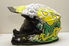 Graffiti style custom helmet