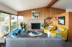 Mid-Century Living Room | by Kirk Riley Design... the sad part is the furniture was custom made for the basically nice room