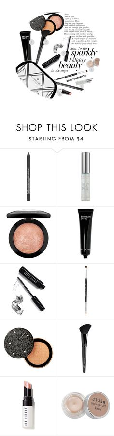 """#PolyPresents: Sparkly Beauty"" by pianogirlzoe ❤ liked on Polyvore featuring beauty, NYX, Urban Decay, MAC Cosmetics, Bobbi Brown Cosmetics, Stila, Guerlain, Old Navy and Illamasqua"