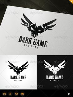 Dark Game Logo  #GraphicRiver        Dark Game – Logo Template  	 This logo design for gamer,games application services,games and apps developers,clean and modern