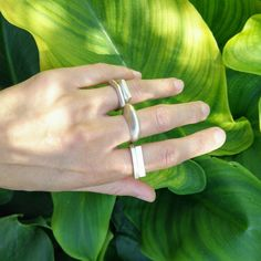 Unique Sterling Silver Ring handmade with a modern and minimalist design