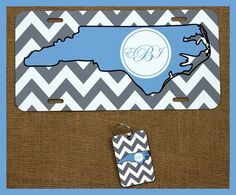 License Plate Car Tag Monogrammed Key Chain by ChicMonogram, $35.00