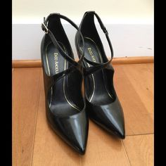 """Enzo Angiolini black patent stiletto heels Strappy stiletto style pumps by Enzo Angiolini in black patent leather. 4"""" heel.  ** NEVER WORN! ** perfect condition:) Enzo Angiolini Shoes Heels"""