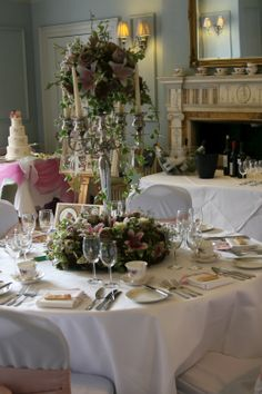 Beautful floral displays - Robert Stubbs.  Couture Cakes - Katie Watts  Venue Washingborough Hall - Exclusive, tailor made weddings!