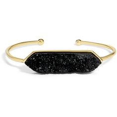 BaubleBar Jubilee Druzy Bracelet (505 MXN) ❤ liked on Polyvore featuring jewelry, bracelets, accessories, joyas, stacking bangles, baublebar, baublebar jewelry, druzy jewelry and adjustable bangles