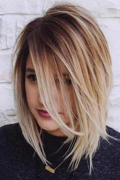 Chic Medium Length Layered Haircuts for a Trendy Look ★ See more: http://glaminati.com/medium-length-layered-haircuts/
