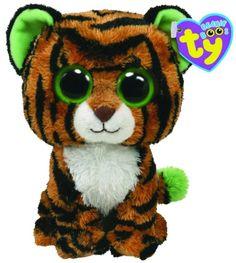 Ty - Peluchette tigre stripes beanie boo's 15 cm