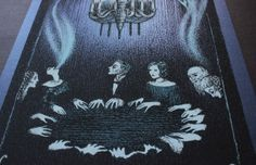 seance table close up from Tube Cult Fest 2014 screenprinted poster by Ver Eversum