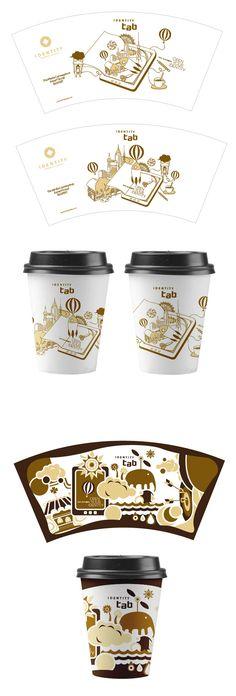 Enspert_Brand Promotion on Behance Best Coffee Cup, Coffee Cup Art, Coffee Cup Design, Coffee Jars, Coffee Packaging, Brand Packaging, Coffee Logo, Coffee Shop, Paper Cup Design