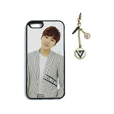 Fanstown seventeen kpop iphone6 case Dust plug charm ❤ liked on Polyvore featuring accessories, tech accessories and phone cases