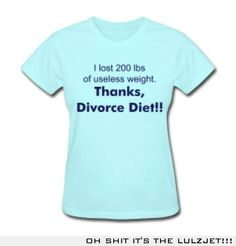 I lost 250 lbs total - 60 since the divorce and 190 when I signed the papers!!