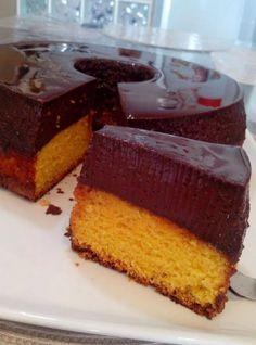 Bolo de cenoura com pudim de chocolate   Doces e sobremesas > Receitas de Pudim   Receitas Gshow
