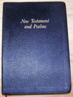 THE NEW TESTAMENT & PSALMS - GIANT PRINT LEATHER King James Version - Nelson KJV