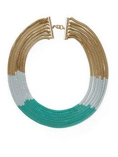Add this eye-catching necklace to any outfit!  Tinley Road Multi Chain Ombre Necklace | Piperlime