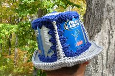 Detroit Lions Beer Can Hat