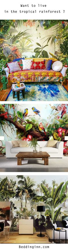 Start at $29.79. These might be the coolest living room interior decoration I've ever seen.Oh no,they are!If you are in need of an interior overhaul for your room especially in this summer,these 3D #tropicalmurals are the way to go! So fresh and airy,let you be like in the rain forest.Whether pasted on the walls of your living room or bedroom, the gorgeous leafy prints will bring your space to life while adding a real element of sophistication.