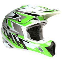 2015 THH TX-12 Helmet - Strike White Green