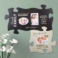 Keep your home tidy with the help of our affordable home storage solutions and organizational products at Collections Etc. Puzzle Piece Picture Frames, Puzzle Frame, Puzzle Art, Puzzle Piece Crafts, Puzzle Pieces, Wood Pallet Crafts, Taylor Gifts, Bussiness Card, Puzzle Jewelry