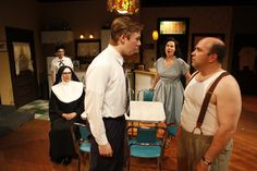 """""""Over the Tavern"""" cast photo by Nick Adams Photography. Justen Montgomery, Nancy Antonio, Jenny Smith, Thomas Mothershed."""