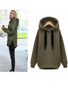 Black Women Long Sleeve Print Casual Hooded Pullover Outerwear ...