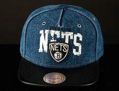 """b155665d04482 Strapback Saturdays  NBA x MITCHELL   NESS """"Brooklyn Nets Light Denim"""" Cap"""