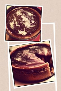 two chocolate cheesecake. represents the starry sky, or rather the universe with its stars or the Milky Way