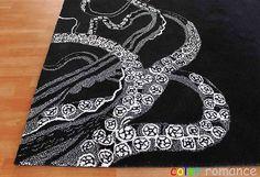 black octopus rug