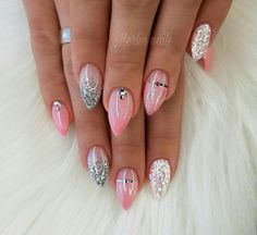 Nägel Nail art punk Wedding Greeting Cards Article Body: There are so many options to consider when Holiday Nails, Christmas Nails, Art Punk, Punk Nails, Summer Nails Almond, Pointed Nails, Short Stiletto Nails, Gel Nagel Design, Sexy Nails