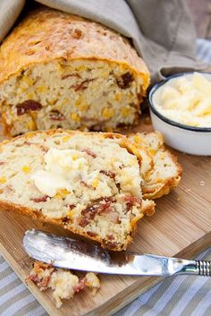 Bacon Cornbread with Butter